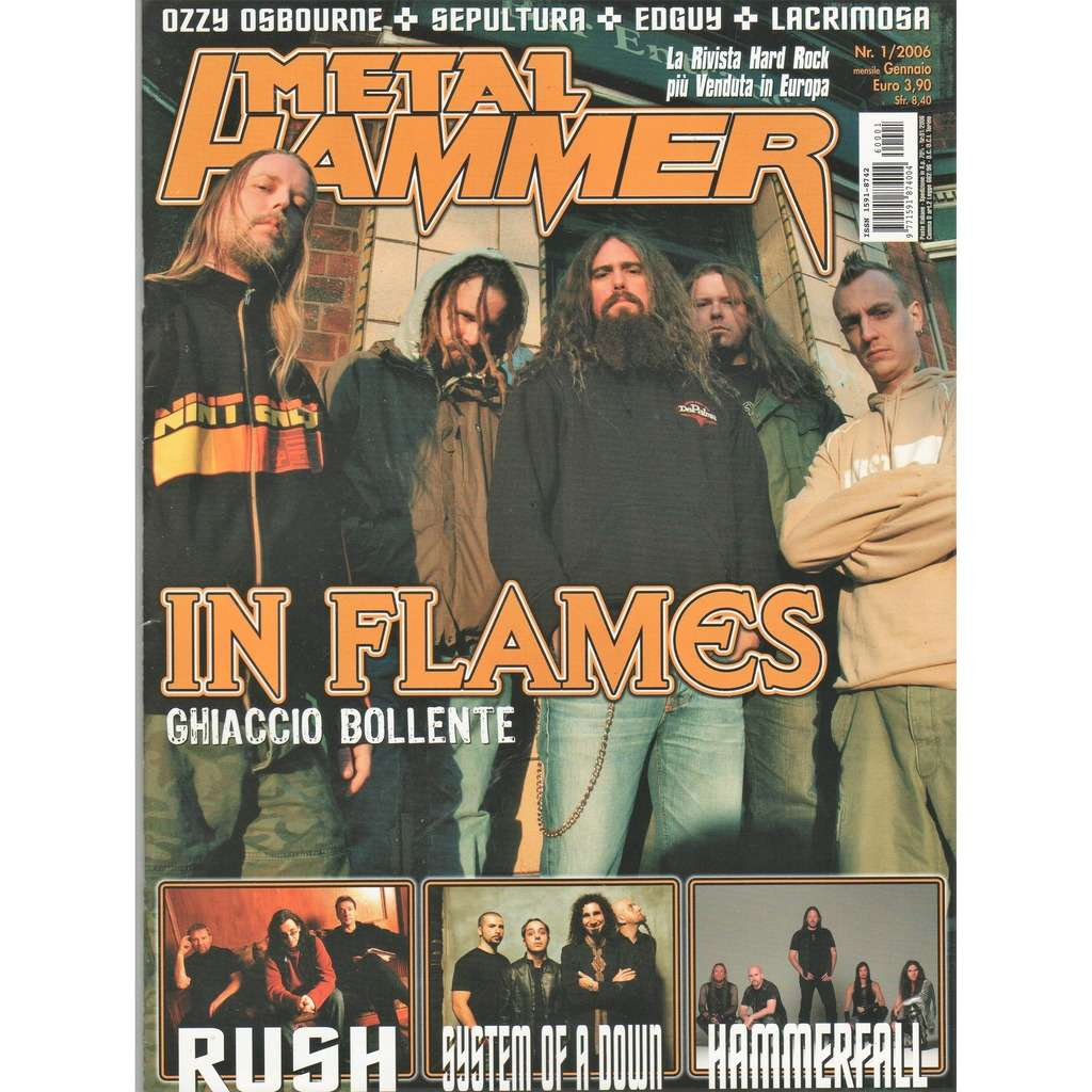 In Flames Metal Hammer (N.1 Jan. 2006) (Italian 2006 In Flames front cover magazine!)
