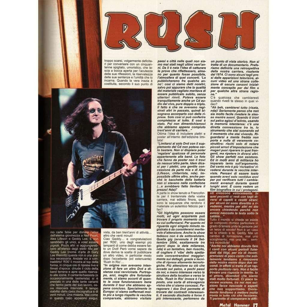 rush Metal Hammer (N.1 Jan. 2006) (Italian 2006 music magazine!)