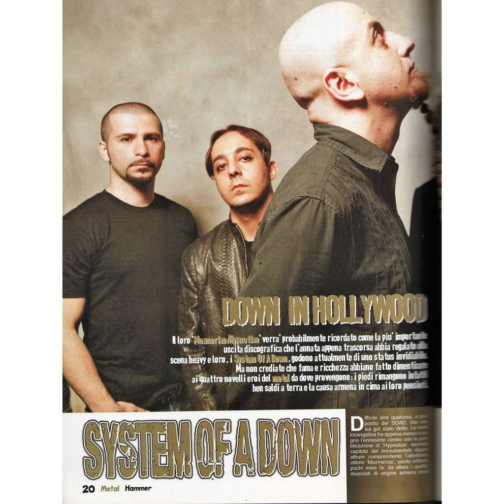 System Of A Down Metal Hammer (N.1 Jan. 2006) (Italian 2006 music magazine!)