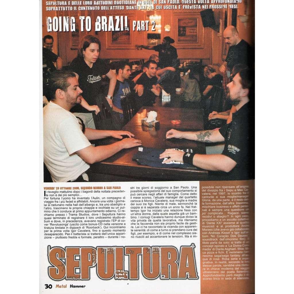 Sepultura Metal Hammer (N.1 Jan. 2006) (Italian 2006 music magazine!)