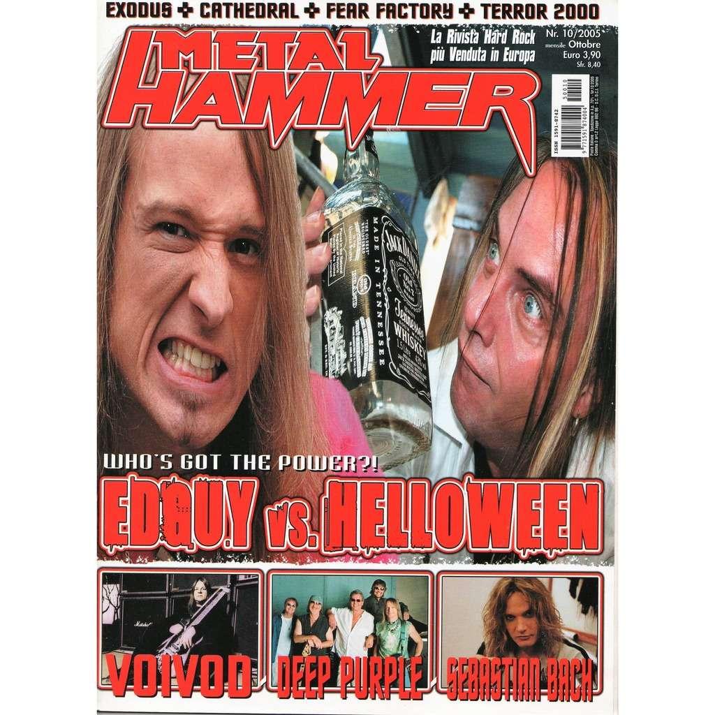 Edguy / Helloween Metal Hammer (N.10 Oct. 2005) (Italian 2005 Edguy & Helloween front cover magazine!)