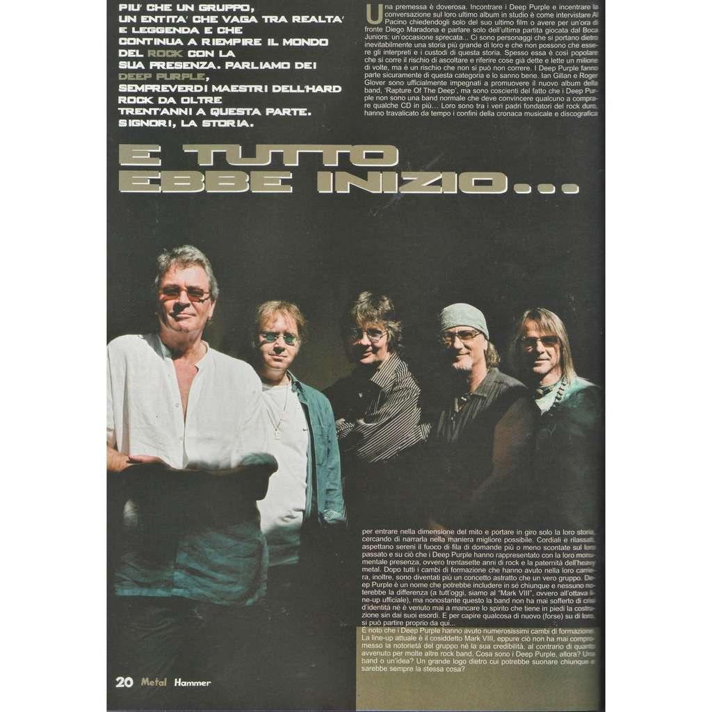 Deep Purple Metal Hammer (N.10 Oct. 2005) (Italian 2005 music magazine!)