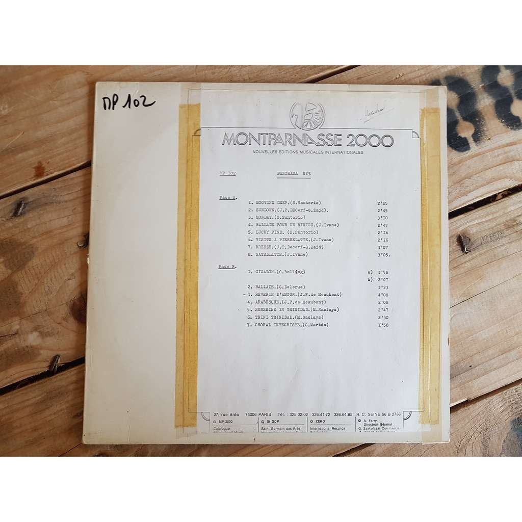 santorio/decerf/zadj/ivane/delerue/de meaubont.... MP 102 panorama n° 3 (disque échantillon)