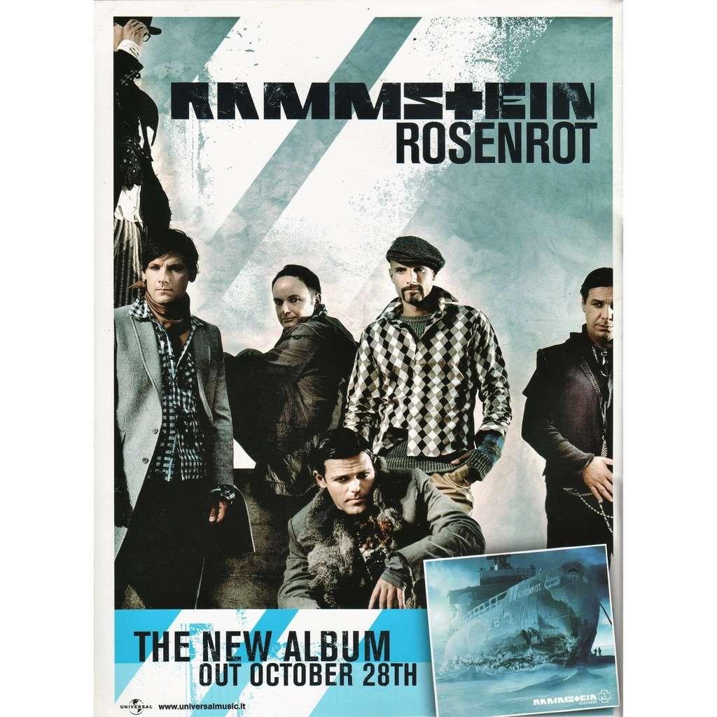 Rammstein Rosenrot (Italian 2005 Universal promo type advert 'album release' poster flyer!)