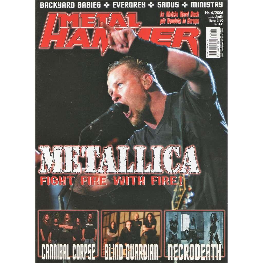Metallica Metal Hammer (N.4 April 2006) (Italian 2006 Metallica front cover music magazine!!)