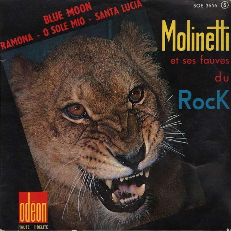 molinetti et ses fauves du rock blue moon, ramona / o sole mio, santa lucia