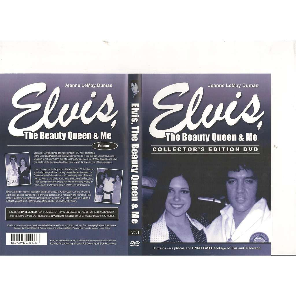 elvis presley 1 dvd the beauty queen and me 75 minutes unreleased 1974 private & live footages