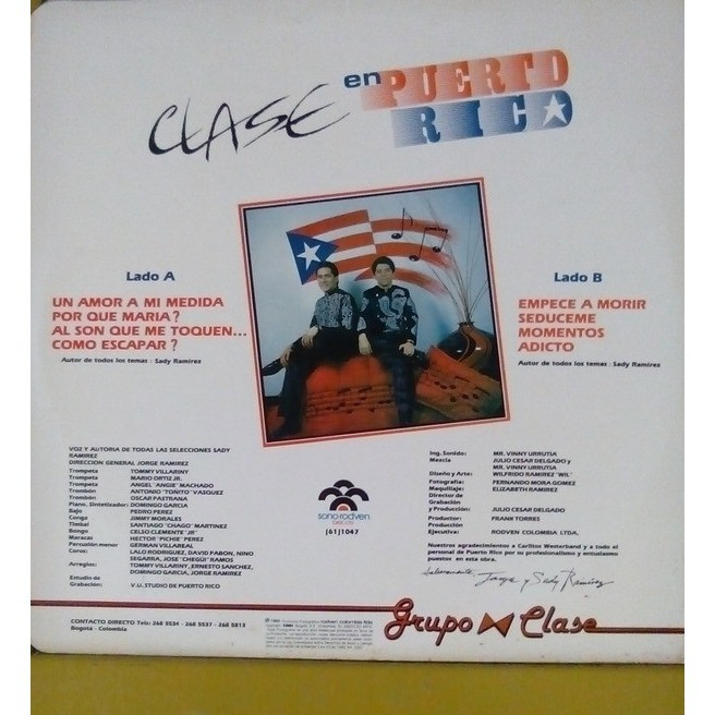 Grupo Clase - En Puerto Rico (LP, Album) Grupo Clase - En Puerto Rico (LP, Album)