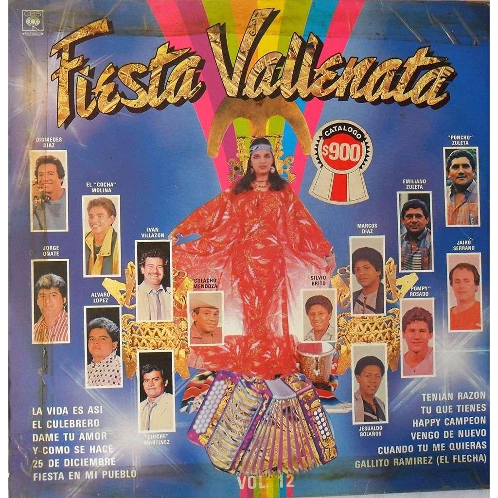 Fiesta Vallenata Vol. 12 (LP, Comp) FIESTA VALLENATA VOL.12-DIOMEDES DIAZ-JORGE OÑATE-EL