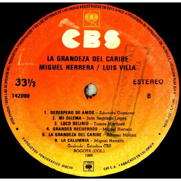 Miguel Herrera / Luis Villa - Miguel Herrera / Luis Villa - La Grandeza Del Caribe (LP, Album)