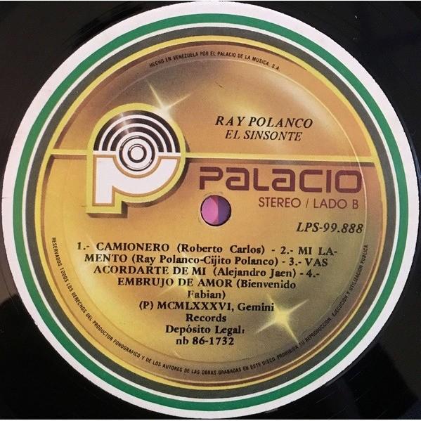 Ray Polanco - El Sinsonte (LP, Album) Ray Polanco - El Sinsonte (LP, Album)