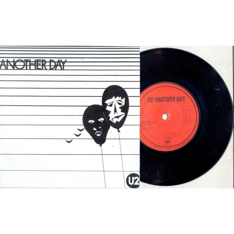 U2 Another day (Ireland-only 1980 2-trk 7single on red CBS lbl full ps)