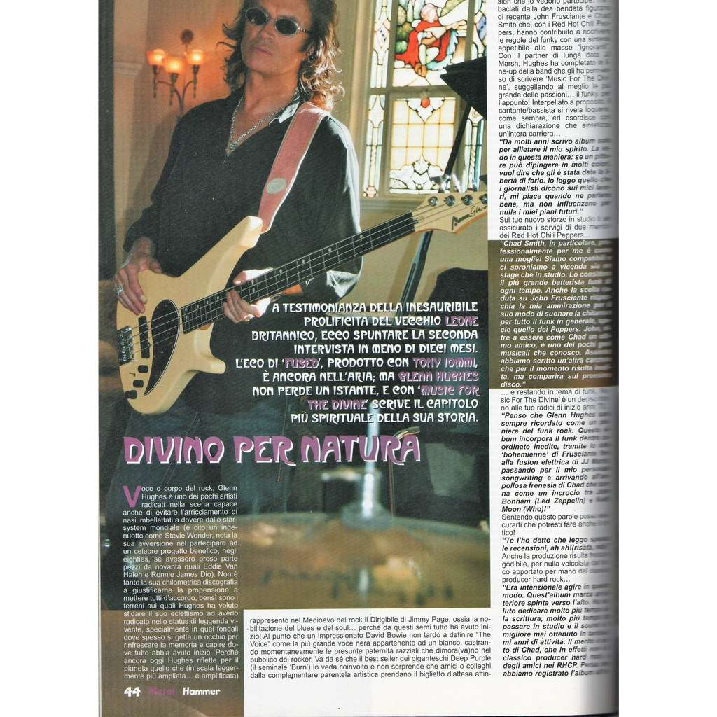 Deep Purple / Glenn Hughes Metal Hammer (N.6 June 2006) (Italian 2006 music magazine!)