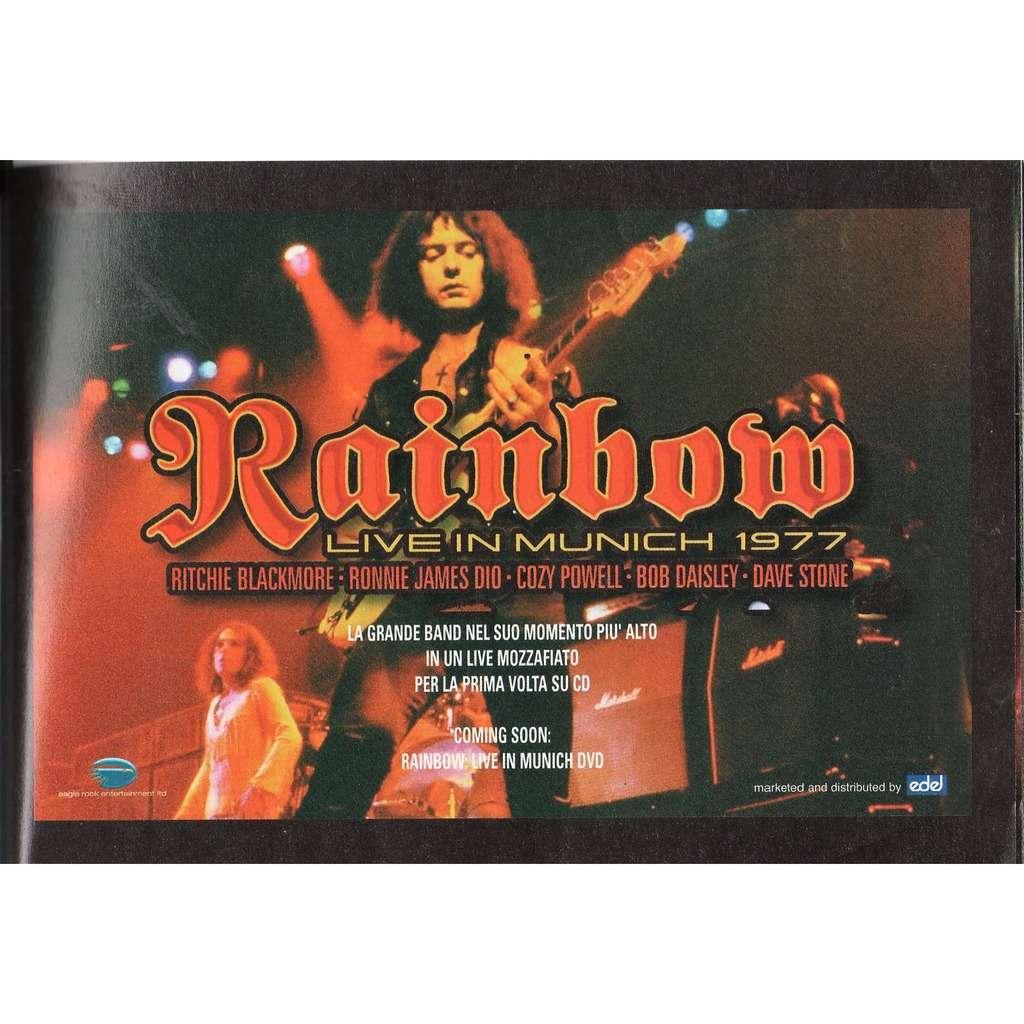 Rainbow Live In Munich 1977 (Italian 2006 promo type advert 'album release' flyer!!)