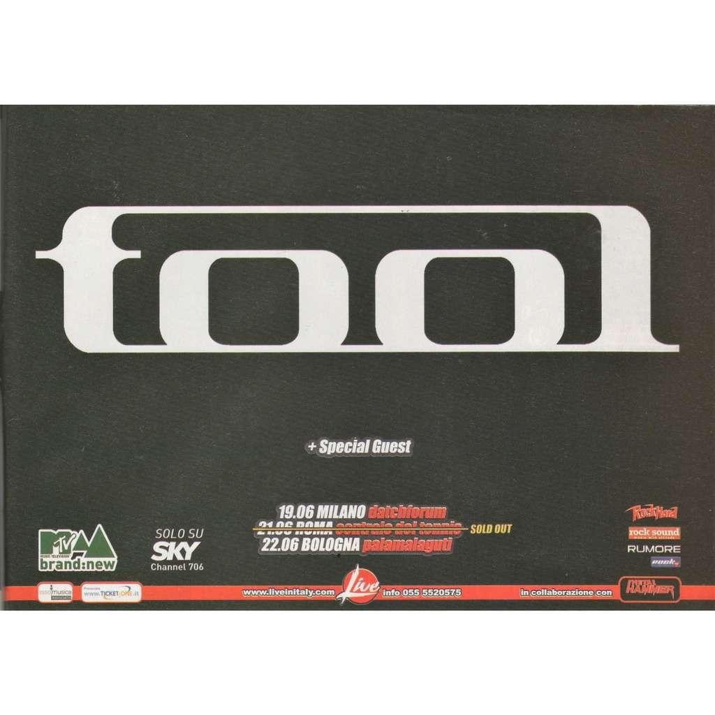 Tool Italian Tour Nov. 2006 (Italian 2006 promo type advert 'Tour Release' Concert flyer!)