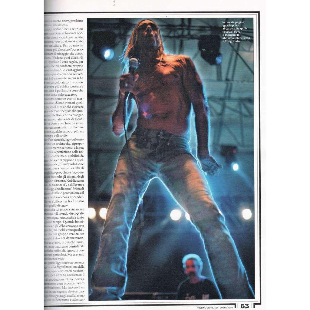 Iggy Pop Rolling Stone (N.35 Sept. 2006) (Italian 2006 music magazine!)