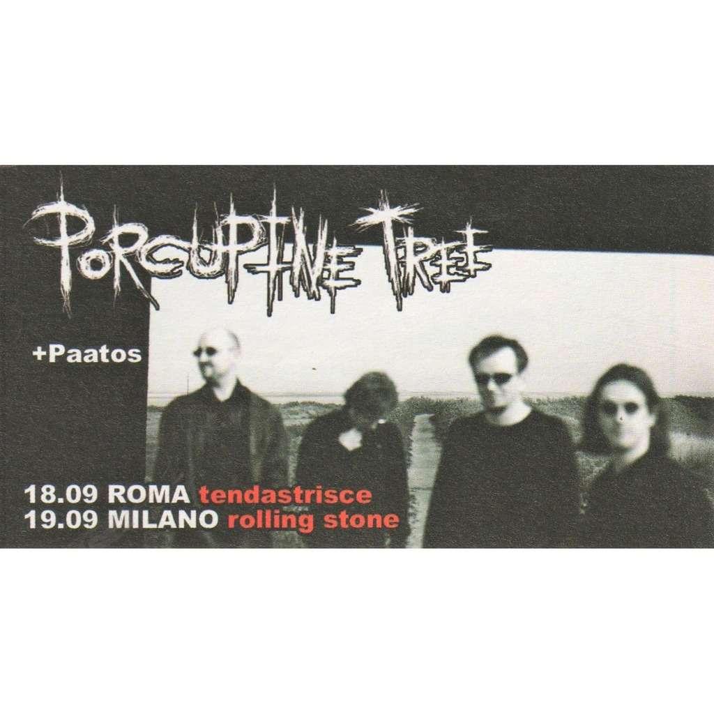 Porcupine Tree Roma 18 & Milano 19.09.2006 (Italian 2006 promo type advert concert flyer!!)