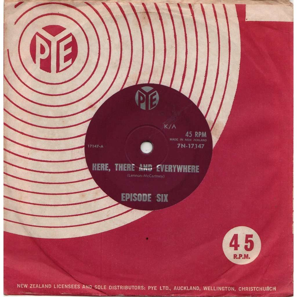 Deep Purple / Episode Six Here There And Everywhere (New Zealand 1966 original 2-trk 7single on Pye lbl Co. slv)