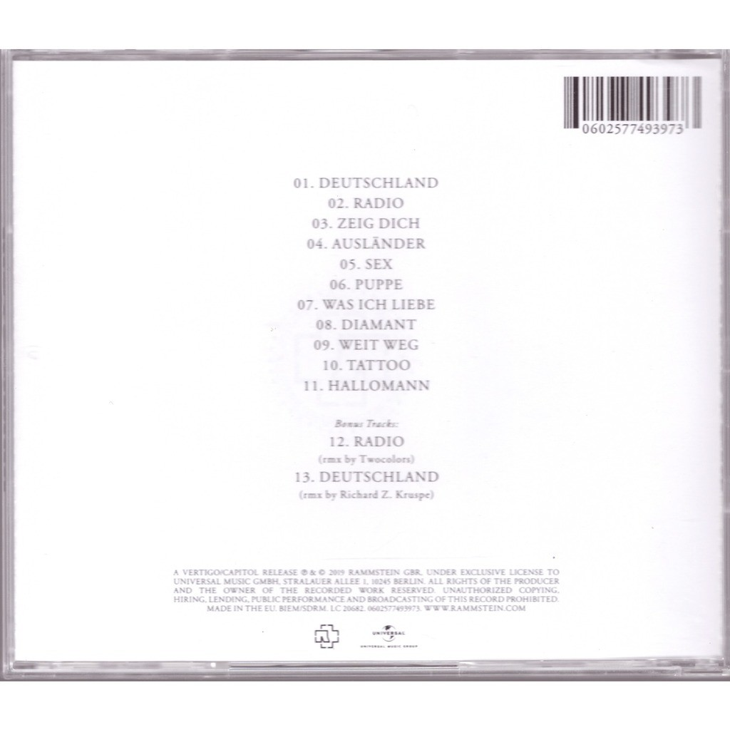 Rammstein Rammstein + Bonus