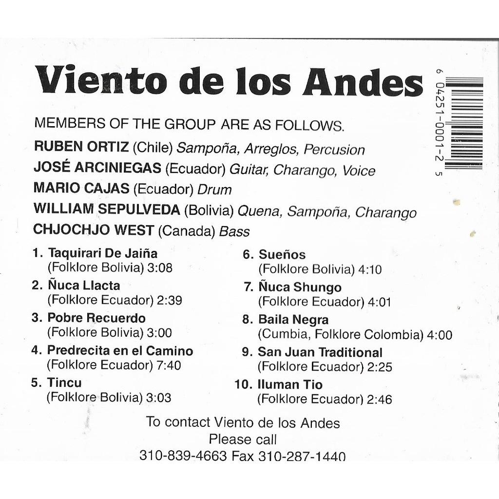 VIENTO DE LOS ANDES VIENTO DE LOS ANDES