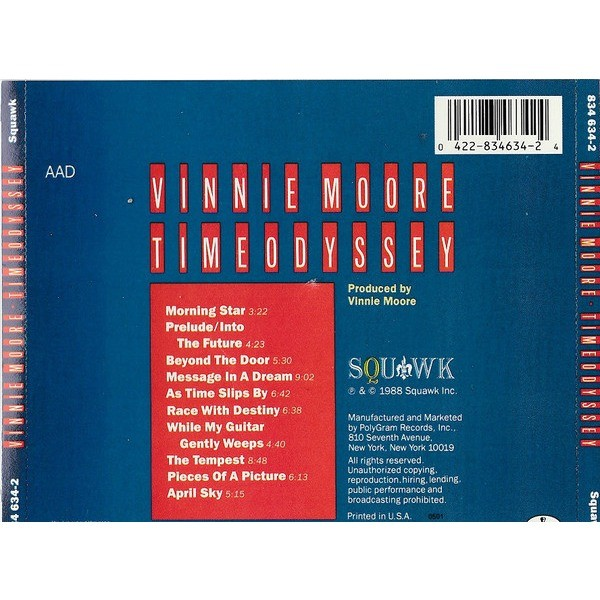 Vinnie Moore Time Odyssey