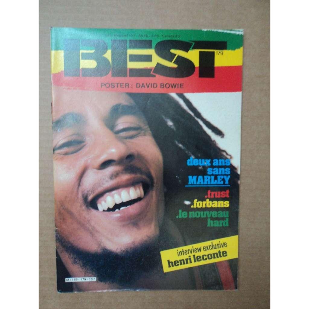 Best Magazine 179 Best Magazine No 179 juin 1983 BOB MARLEY couverture poster DAVD BOWIE toujours agrafé