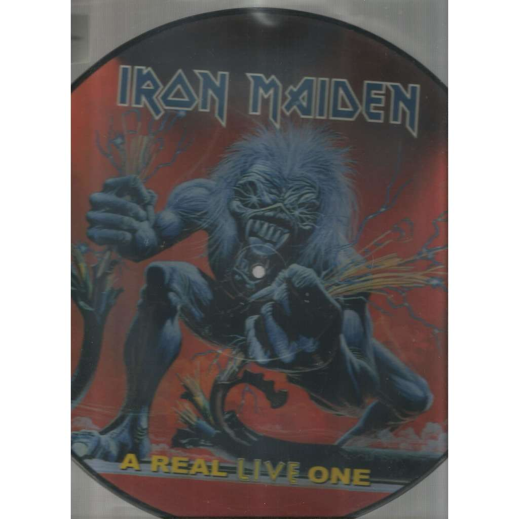 iron maiden a real live one picturedisc