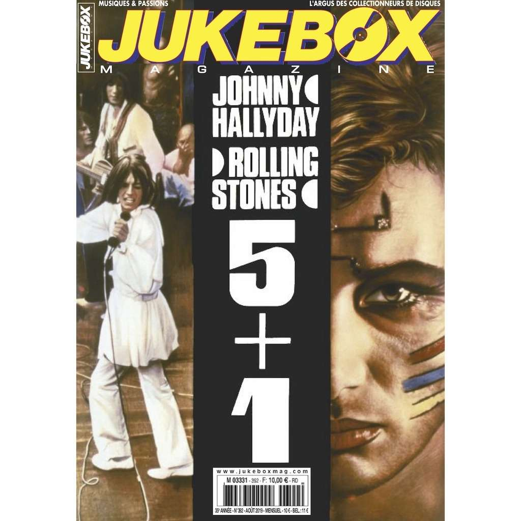 N°392 (AOUT 2019) ROLLING STONES / JOHNNY HALLYDAY : 5 + 1 MAGAZINE - JUKEBOXMAG.COM