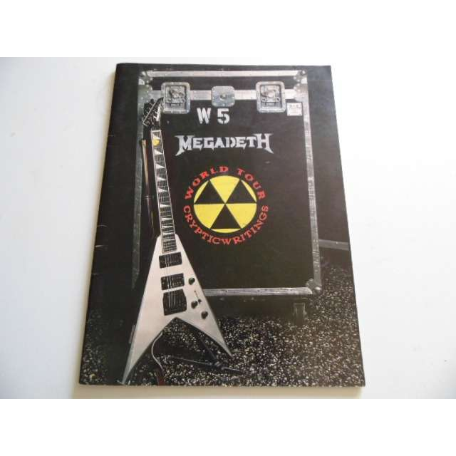 Megadeth tour programme