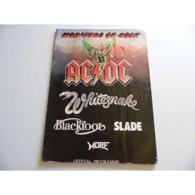 AC/DC tour programme