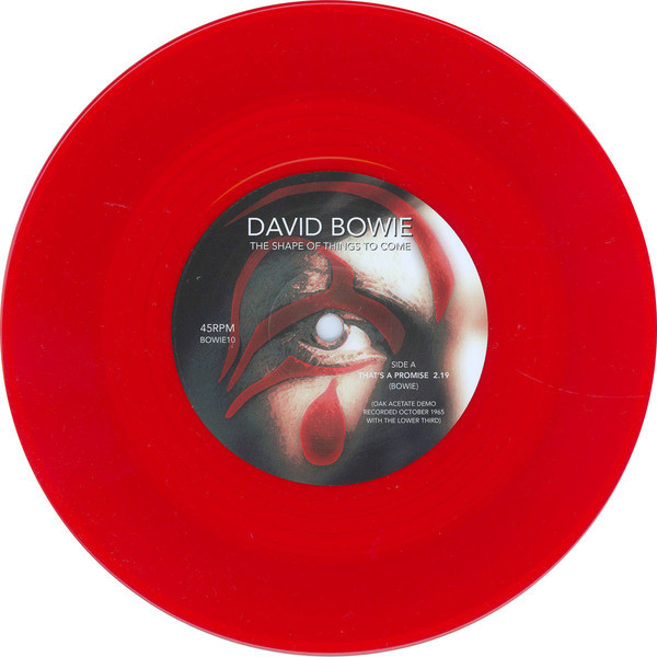 David Bowie The Shape Of Things To Come (7') Ltd Edit Red Vinyl Of Only 1000 Copies -U.K
