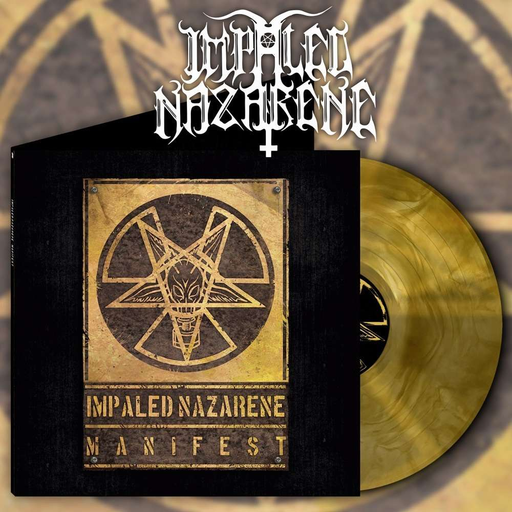 IMPALED NAZARENE Manifest. Yellow Galaxy Vinyl