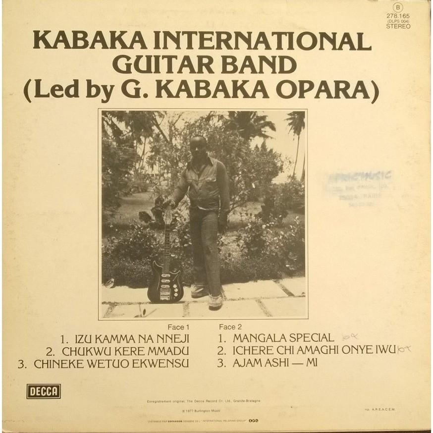 kabaka international guitar band (led by g. kabaka opara)