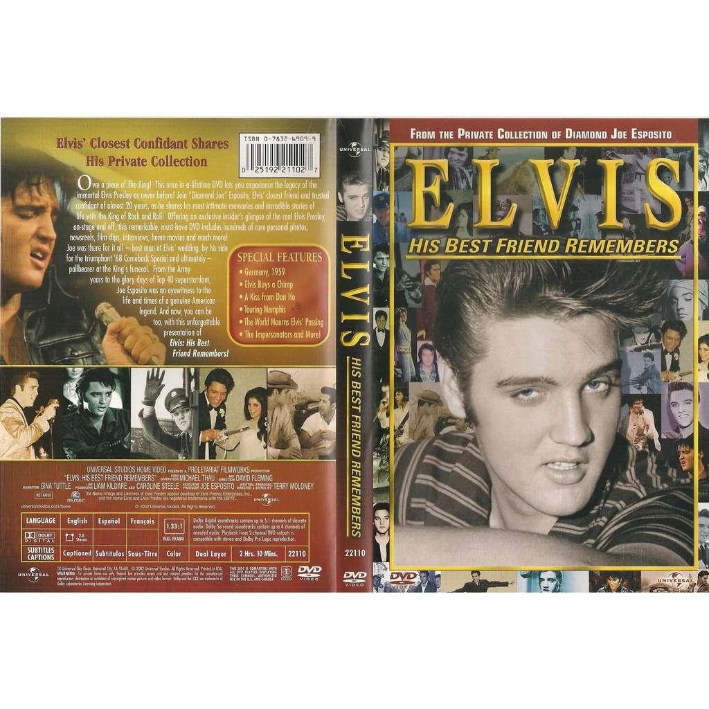 elvis presley 1 dvd elvis his best friend remembers 2h10 of unreleased home movies & interviews