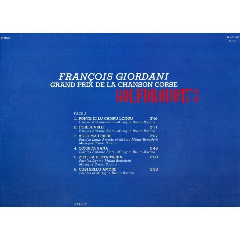 FRANCOIS GIORDANI . ( BRUNO BACARA ) GRAND PRIX DE LA CHANSON CORSE