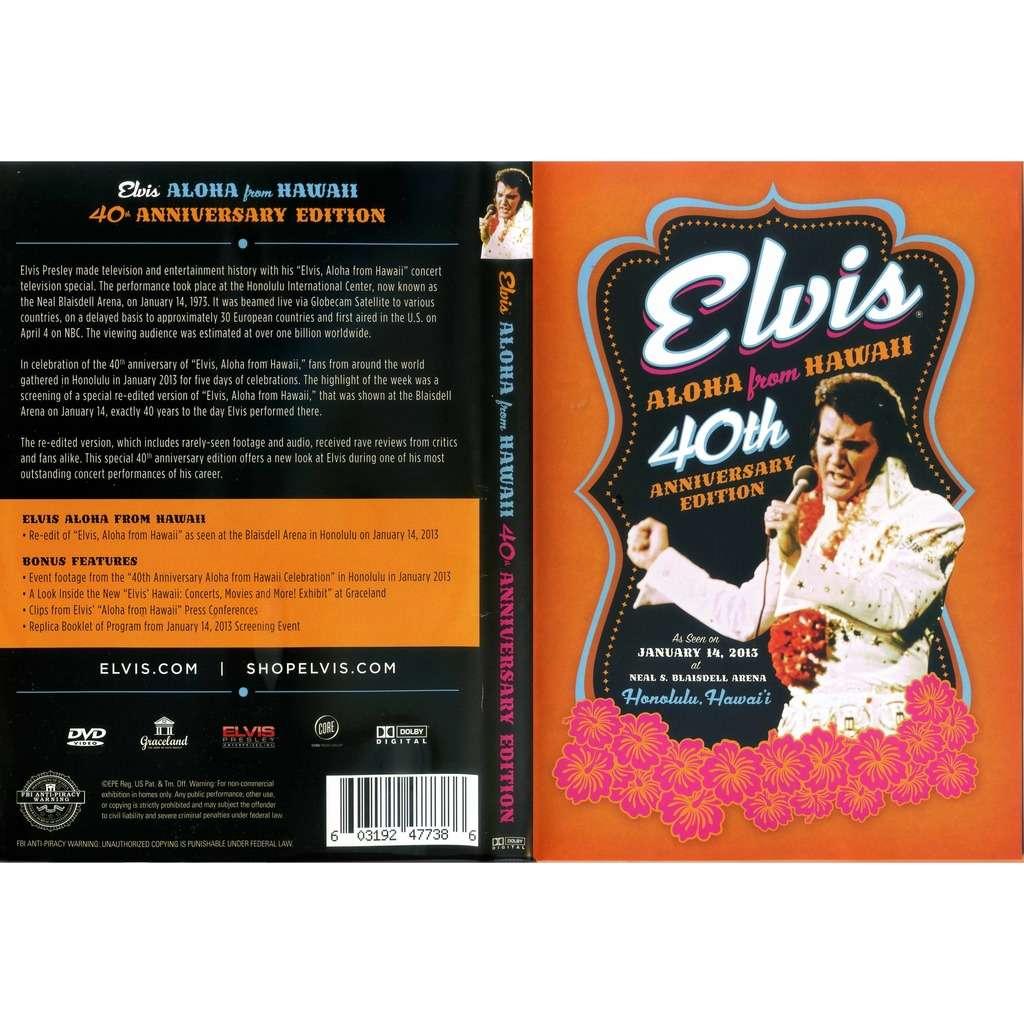 elvis presley 1 dvd aloha from hawaii special 40th anniversary edition w/bonus