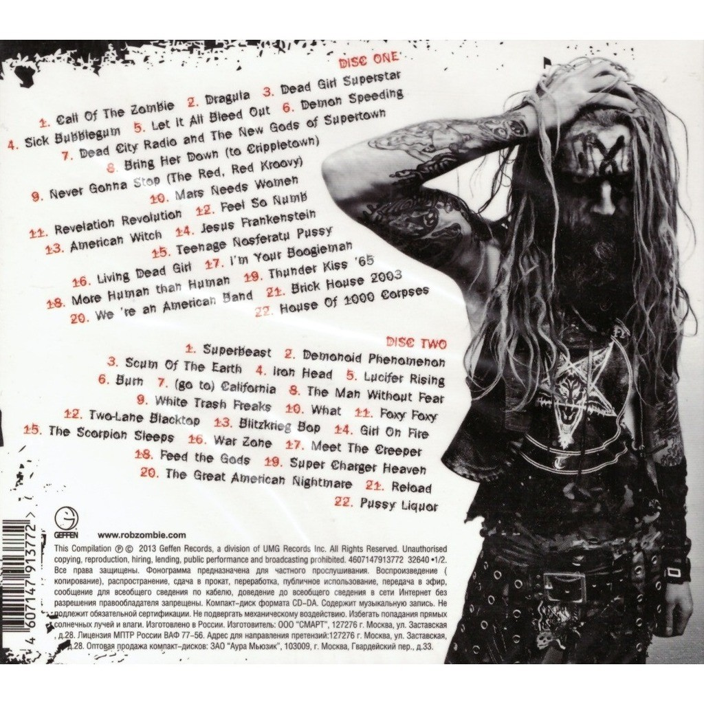Rob Zombie Greatest hits 2CD New Sealed