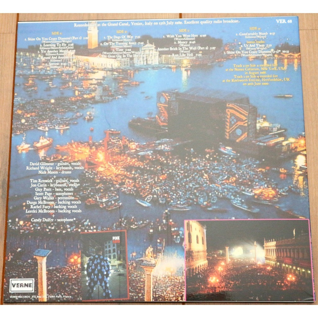 Pink Floyd Live In Venice 1989 2lp