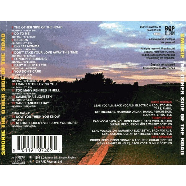 Smokie The Other Side Of The Road CD (with 2 bonus tracks)
