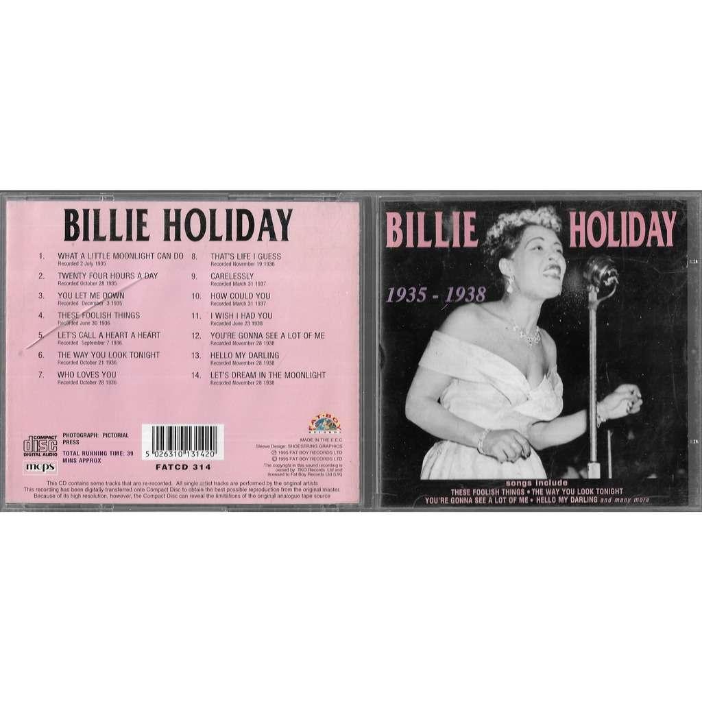 billie holiday 1935 1938