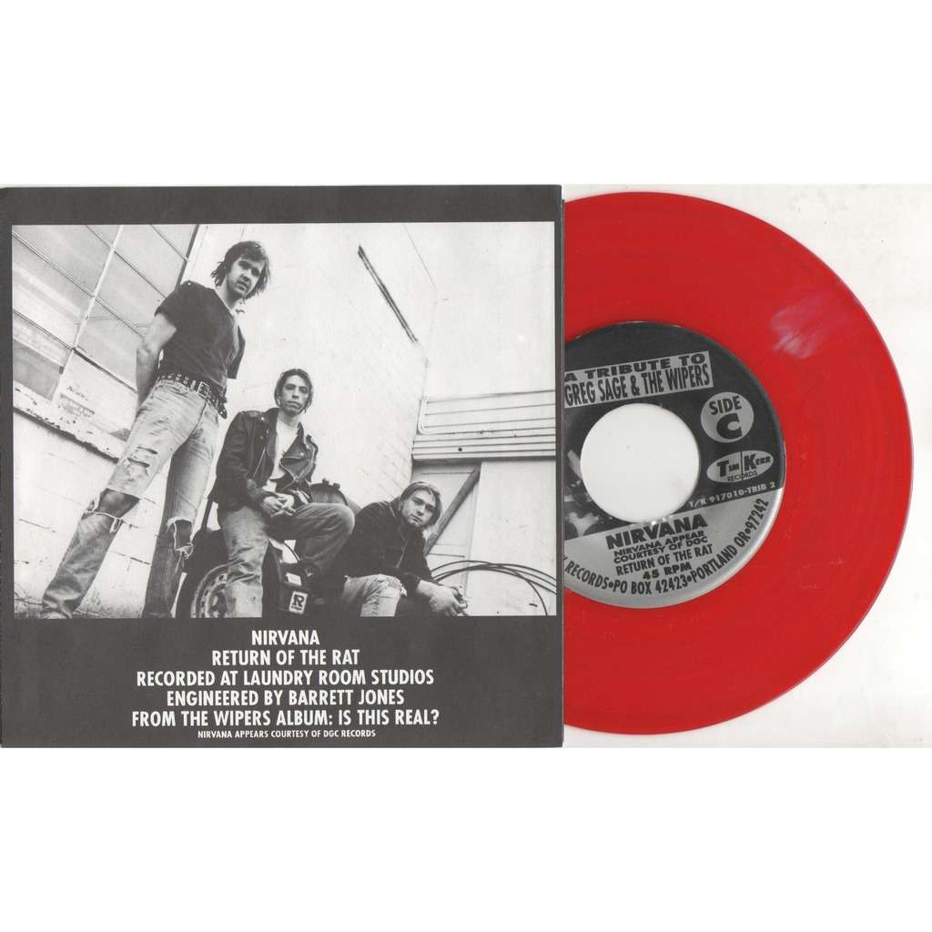 Nirvana Eight Songs for Greg Sage & the Wipers (Canada '92 Ltd 8-trk V/A 4x 7single RED-WHITE Wax Box set)