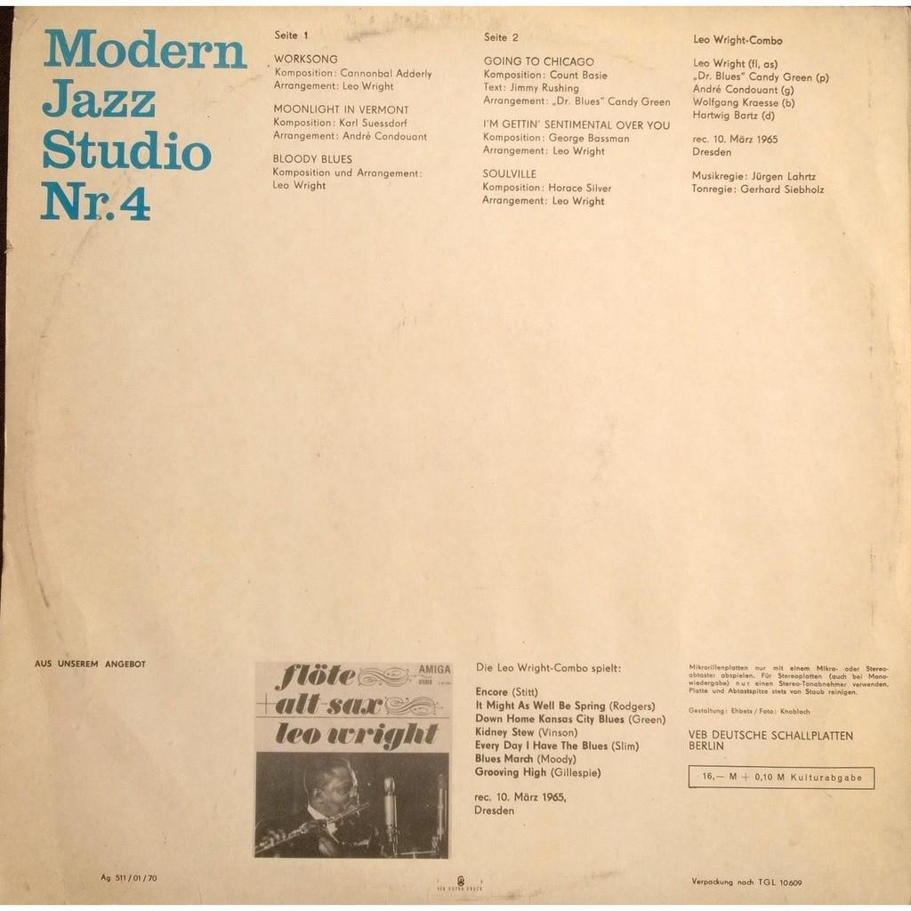 leo wright modern jazz studio Nr. 4