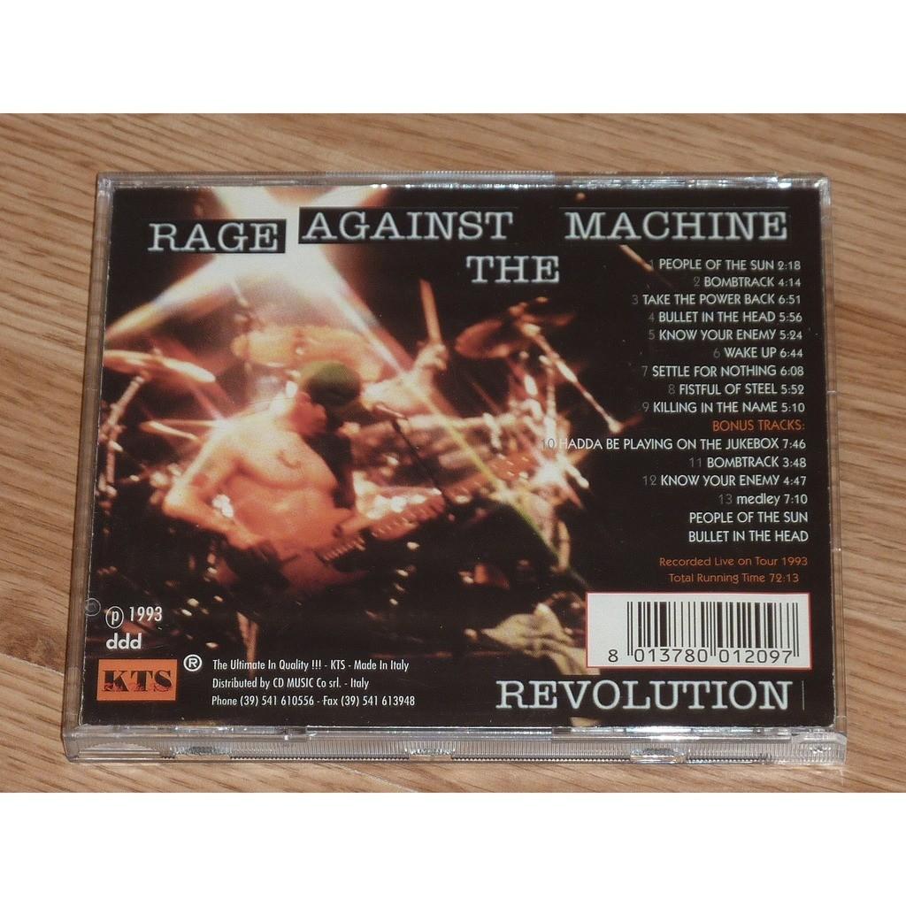 RAGE AGAINST THE MACHINE REVOLUTION CD