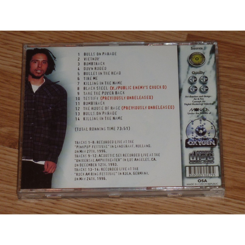 Rage Against The Machine Protest And Survive CD