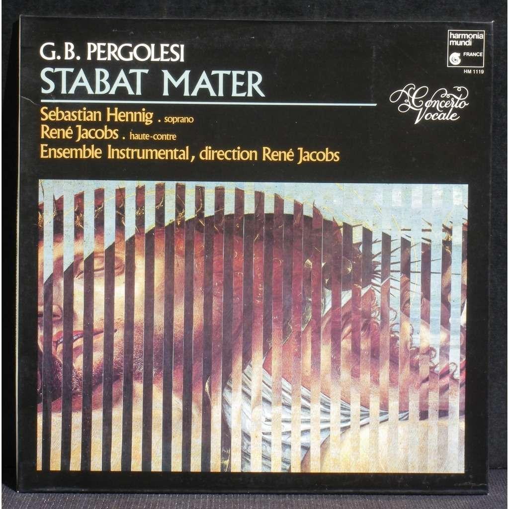 Pergolesi Pergolèse Stabat Mater René Jacobs LP NM Pergolesi Pergolèse Stabat Mater René Jacobs LP NM & CV NM -