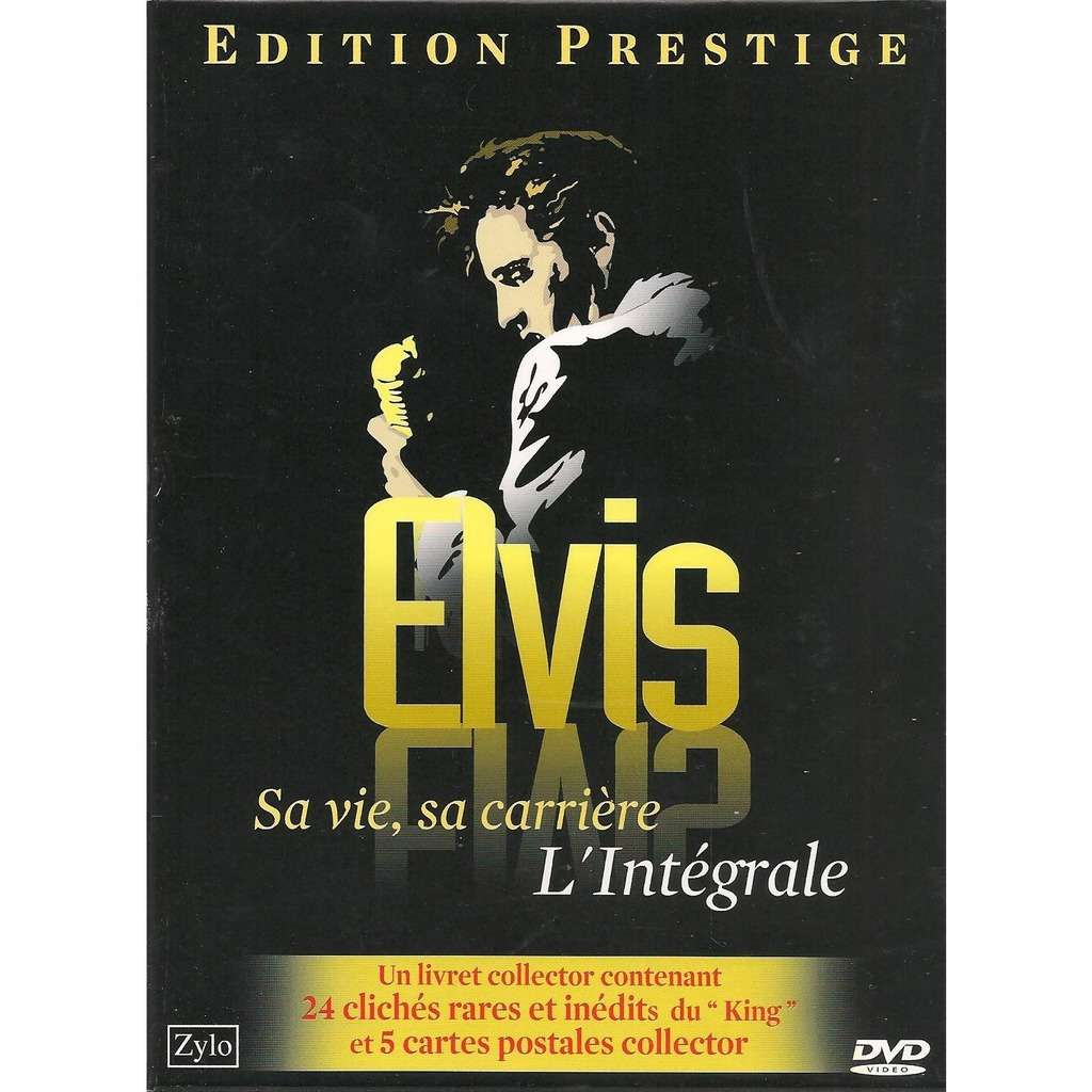 elvis presley 1 dvd + booklet 24 pages + 5 postcards elvis l'intégrale