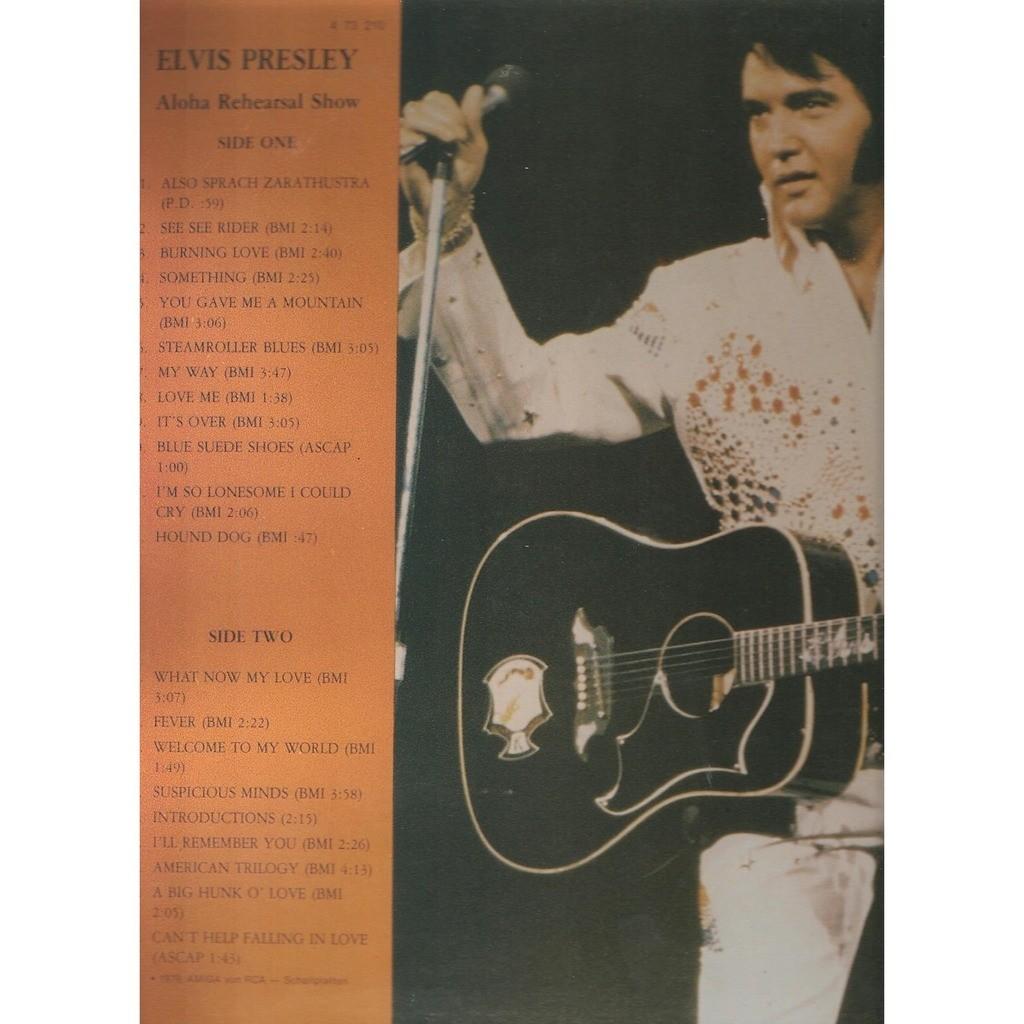 elvis presley 1 LP usa ALOHA REHEARSAL SHOW 12/1/73 honolulu show
