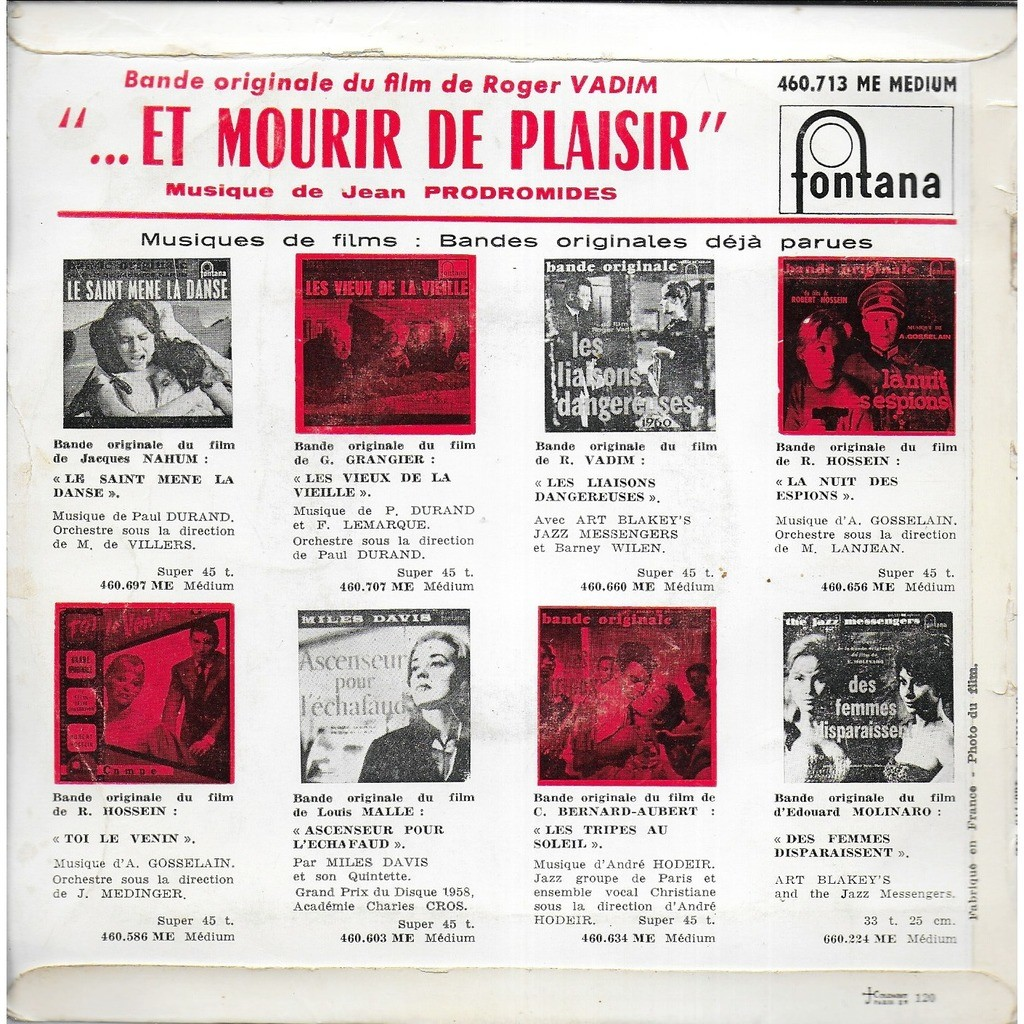 Jean PRODOMIDES composition & direction Et Mourir de Plaisir