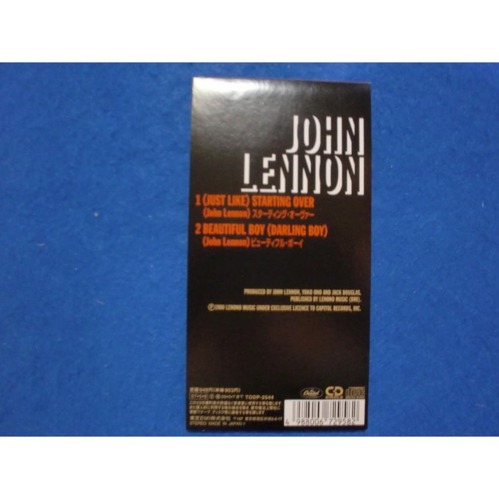 john lennon starting over / beautiful boy (darling boy)