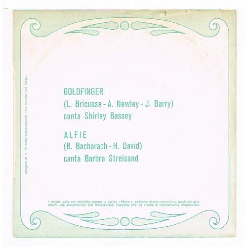 BASSEY Shirley / STREISAND Barbra GOLDFINGER / ALFIE ( hors commerce )